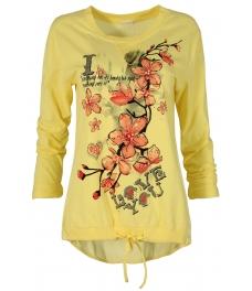 Дамска блуза FANCY жълта
