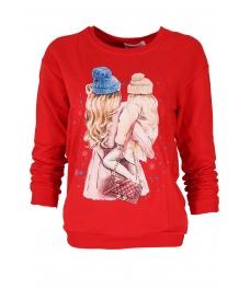Дамска блуза МЕРИ F-1 червена