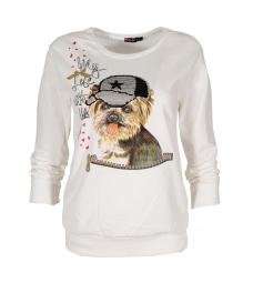 Дамска блуза DOG екрю