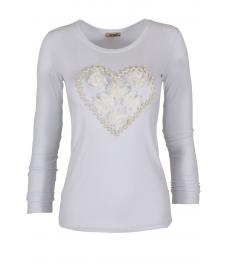 Дамска блуза HEART DR бяла
