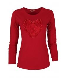 Дамска блуза HEART DR червена