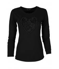 Дамска блуза HEART DR черна