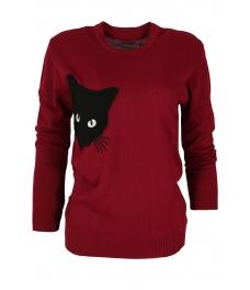 Дамски пуловер  BLACK CAT бордо