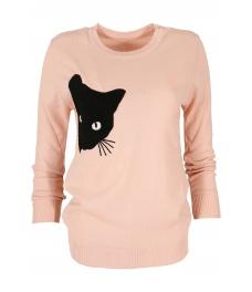 Дамски пуловер  BLACK CAT розов