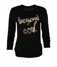 Дамски пуловер COOL черен