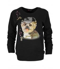 Дамска блуза DOG черна