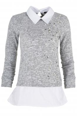 Дамска блуза Верде A-8 сива