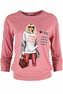 Дамска блуза МЕРИ К-1 розова