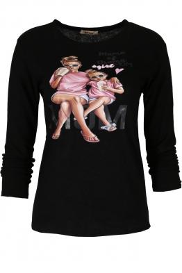 Дамска блуза MOM черна