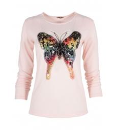Дамска блуза Пеперуда розова