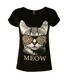 Дамска блуза MEOW черна