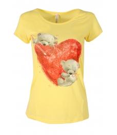 Дамска блуза BEAR LOVE жълта
