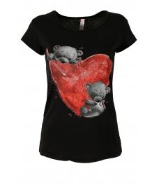 Дамска блуза BEAR LOVE черна