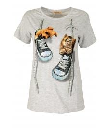 Дамска блуза DOG AND CAT сива
