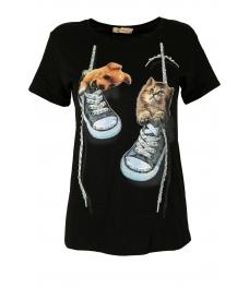 Дамска блуза DOG AND CAT черна