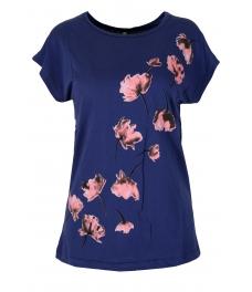 Дамска блуза FLOWERS синя