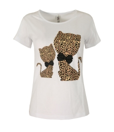 Дамска блуза HAPPY CATS бяла