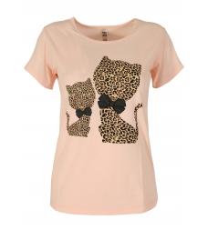 Дамска блуза HAPPY CATS пудра