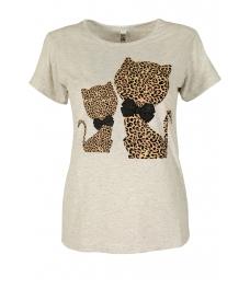 Дамска блуза HAPPY CATS сива