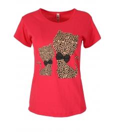 Дамска блуза HAPPY CATS цикламена