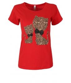 Дамска блуза HAPPY CATS червена
