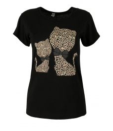 Дамска блуза HAPPY CATS черна