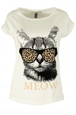 Дамска блуза MEOW бяла