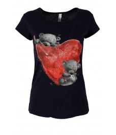 Дамска блуза BEAR LOVE тъмно синя