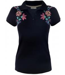 Дамска блуза 7229 тъмно синя