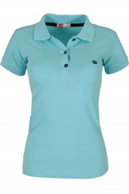 Дамска тениска МОР с якичка светло синя