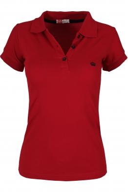 Дамска тениска  МОР с якичка червена