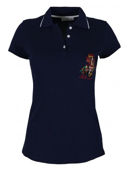 Дамска блуза 8042 тъмно синя