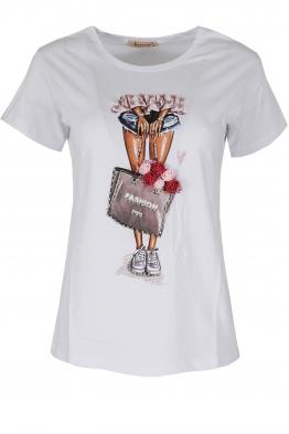 Дамска блуза FASHION  бяла