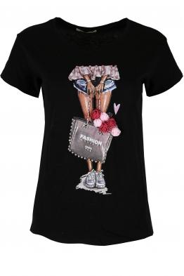Дамска блуза FASHION черна