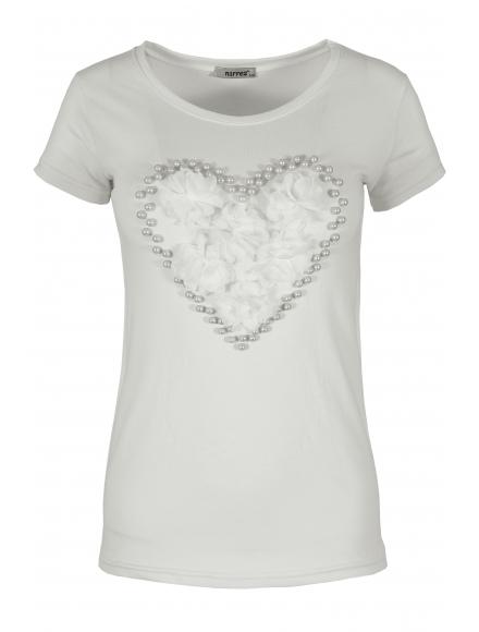Дамска блуза HEART бяла