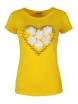 Дамска блуза HEART жълта