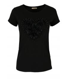 Дамска блуза HEART черна
