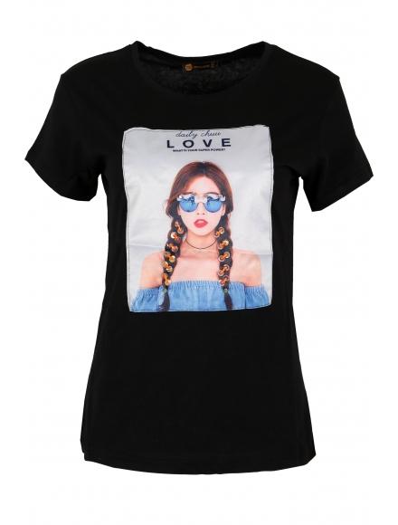 Дамска тениска МИРАНДА А-1 черна