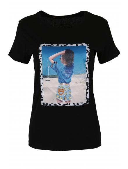 Дамска тениска МИРАНДА черна