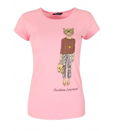 Дамска блуза LADY LEOPARD розова