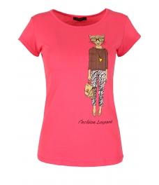 Дамска блуза LADY LEOPARD цикламена