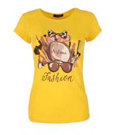 Дамска блуза PERFUME жълта