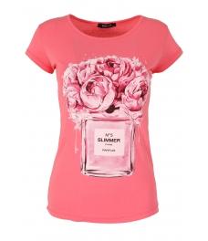 Дамска блуза SLIMMER бонбонено розова