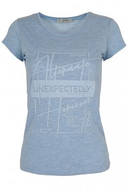 Дамска тениска АННА  С -1 светло синя