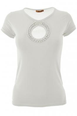 Дамска тениска МАДМОАЗЕЛ бяла
