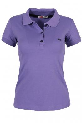 Дамска тениска МОР с якичка лилава