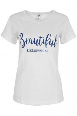 Дамска тениска BEAUTIFUL A-3 бяла