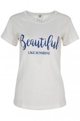 Дамска тениска BEAUTIFUL A-3 екрю