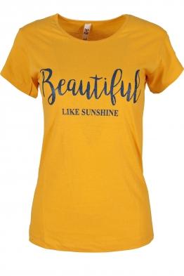 Дамска тениска BEAUTIFUL A-3 жълта