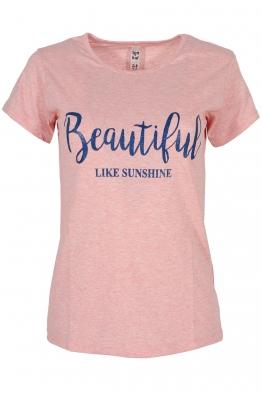 Дамска тениска BEAUTIFUL A-3 розова